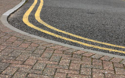 Footpath pavement sidewalk with traffic sign Stock Images