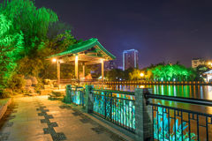 footpath and pavilion at night Stock Images