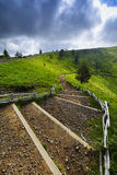 Footpath for peak of the Puy Pariou in Auvergne Stock Images