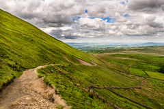Footpath on Pendle Hill Royalty Free Stock Photography