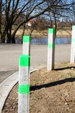 Footpath poles Royalty Free Stock Images
