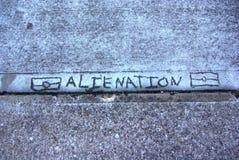 Footpath protest alienacja - Miejscowi zagadnienia - Zdjęcie Stock