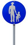 Footpath Road Sign Stock Images