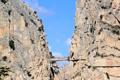 Footpath between the rocks in Andalusia, Spain Royalty Free Stock Image