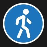 Footpath sign flat icon, Traffic and road sign Stock Photo