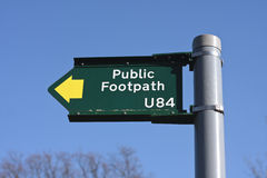 Footpath sign Stock Photo