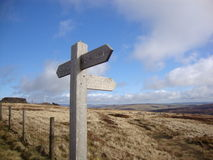 Footpath sign in the Peak District Royalty Free Stock Images