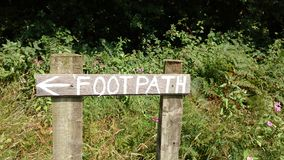 Footpath Royalty Free Stock Photography