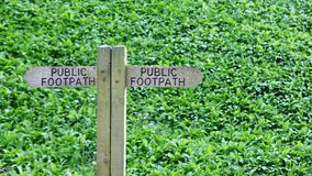 Footpath Signpost. Detail of a Public Footpath Signpost Royalty Free Stock Photography