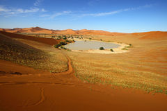Footpath at Sossusvlei Royalty Free Stock Images