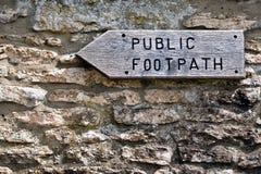 footpath społeczeństwo Zdjęcie Stock