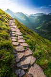 Footpath in the Tatras Mountains at sunrise Stock Photography