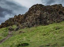 Footpath to Arthur`s Seat, Holyrood Park, Edinburgh Royalty Free Stock Images