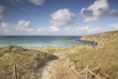 Footpath to Beach at Malpica; Fisterra; Costa de la Muerte; Gali. Cia; Spain Stock Photography