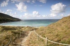 Footpath to Beach at Malpica; Fisterra; Costa de la Muerte; Gali. Cia; Spain Royalty Free Stock Photo