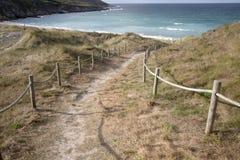 Footpath to Beach at Malpica; Fisterra; Costa de la Muerte; Gali. Cia; Spain Royalty Free Stock Image
