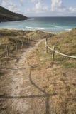 Footpath to Beach at Malpica; Fisterra; Costa de la Muerte; Gali. Cia; Spain Stock Photos