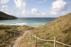 Footpath to Beach at Malpica; Fisterra; Costa de la Muerte; Gali. Cia; Spain Stock Photo