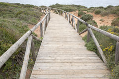 Footpath to Conil and Roche Coves; Cadiz Royalty Free Stock Images