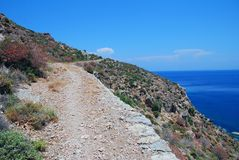 Footpath to Lethra, Tilos royalty free stock images