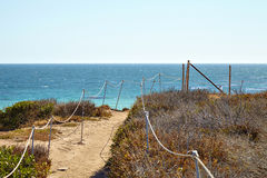 Footpath to the malibu beach. California USA Royalty Free Stock Photo