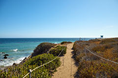 Footpath to the malibu beach. California USA Stock Images