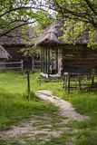 Footpath to the old house. Pirogovo museum. Ukraine. Stock Photos
