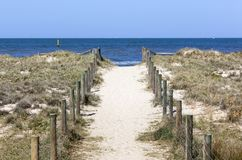Port Melbourne Beach Royalty Free Stock Photo