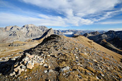 Footpath to the summit Stock Photography