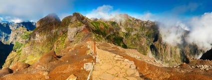 Footpath towards Pico Ruivo Stock Photos