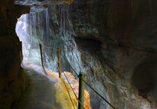 Footpath trough Partnach Gorge. Royalty Free Stock Photography