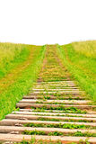 Footpath up the hill Stock Photo