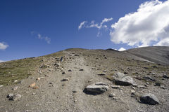 Footpath uphill Stock Photography