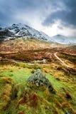 Footpath w Glencoe górach Zdjęcia Royalty Free