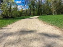 Footpath w parku obrazy stock