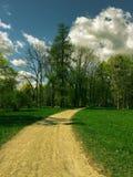 Footpath w parku obrazy royalty free