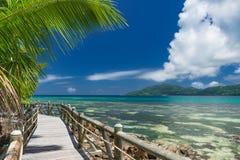 Footpath wzdłuż pięknej plaży zdjęcie stock