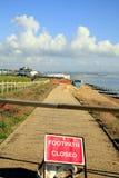 Footpath zamykający Obraz Royalty Free