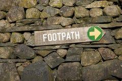 Footpath znak obraz royalty free