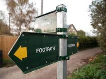 Footpath znaki Obrazy Royalty Free