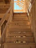 Footplate лестницы дома под конструкцией Стоковое Фото