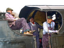 Footplate Crew Royalty Free Stock Photography