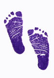 Footprint. On the white background stock photography