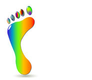 Footprint_2-color2 Stock Photo