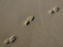 Footprint. In the sand Royalty Free Stock Image