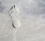 Footprint Royalty Free Stock Photography