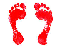 Footprint. Red Footprint royalty free illustration
