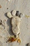 footprint obraz royalty free