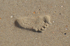 footprint Zdjęcia Stock