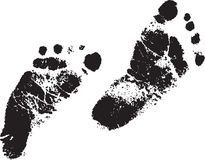 Footprint. Foot print illustration. for your graphic design Royalty Free Stock Image